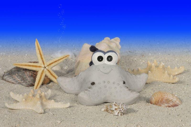 Étoiles De Mer Drôles Sous L Eau Images libres de droits