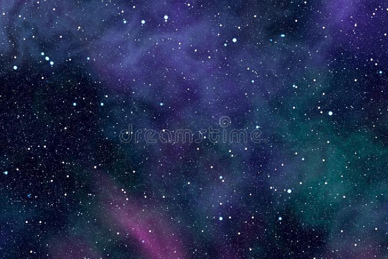 Étoiles de nébuleuse de l'espace illustration libre de droits