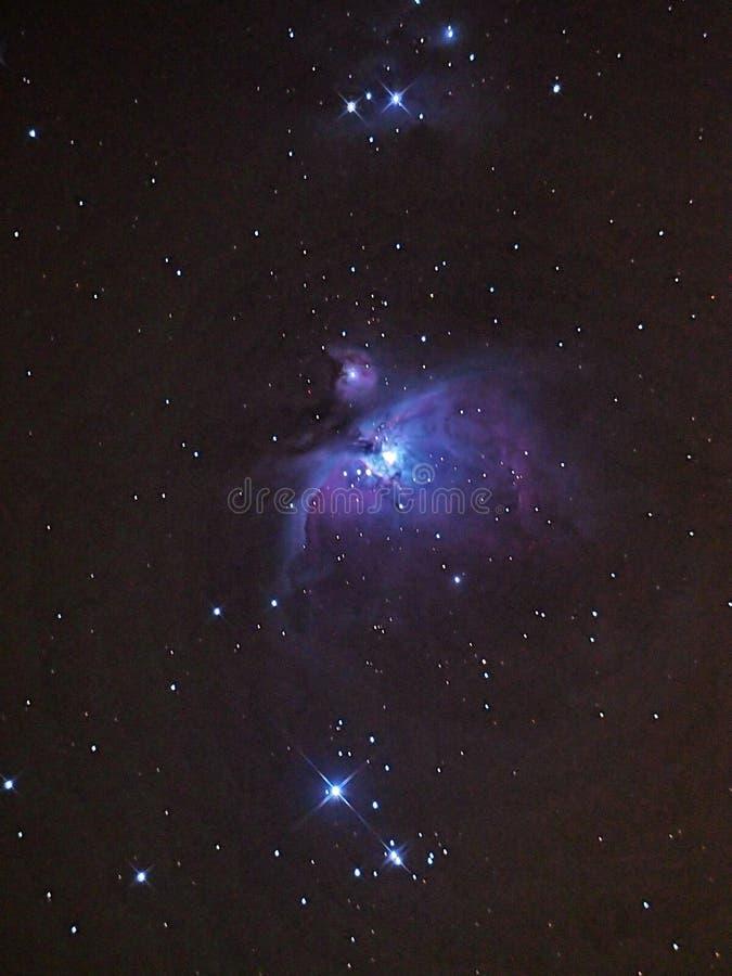 Étoiles de nébuleuse et d'univers d'Orion image libre de droits