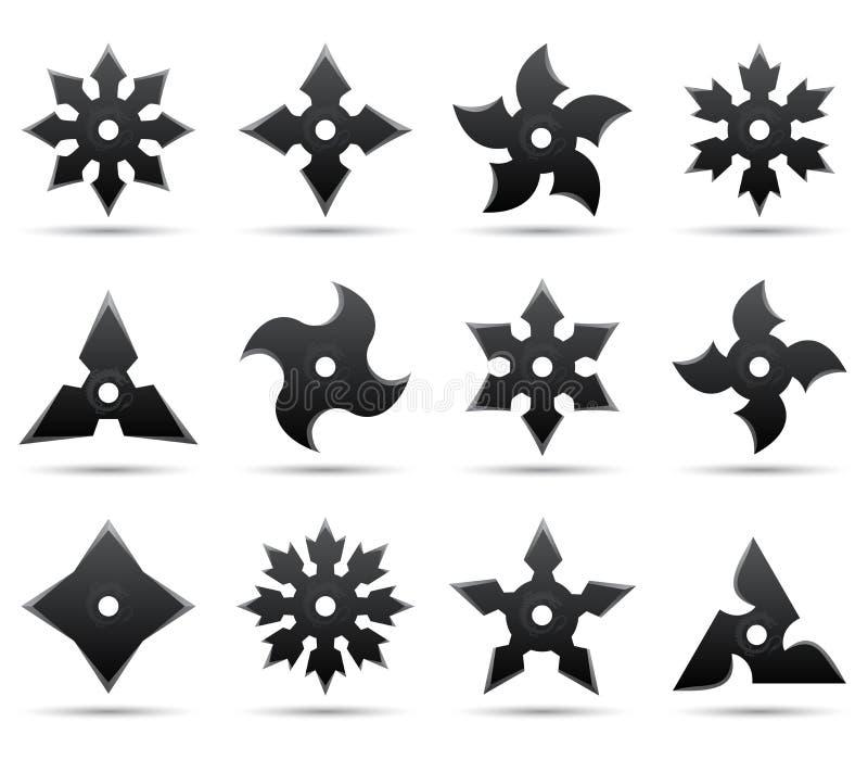 Étoiles de Ninja illustration stock