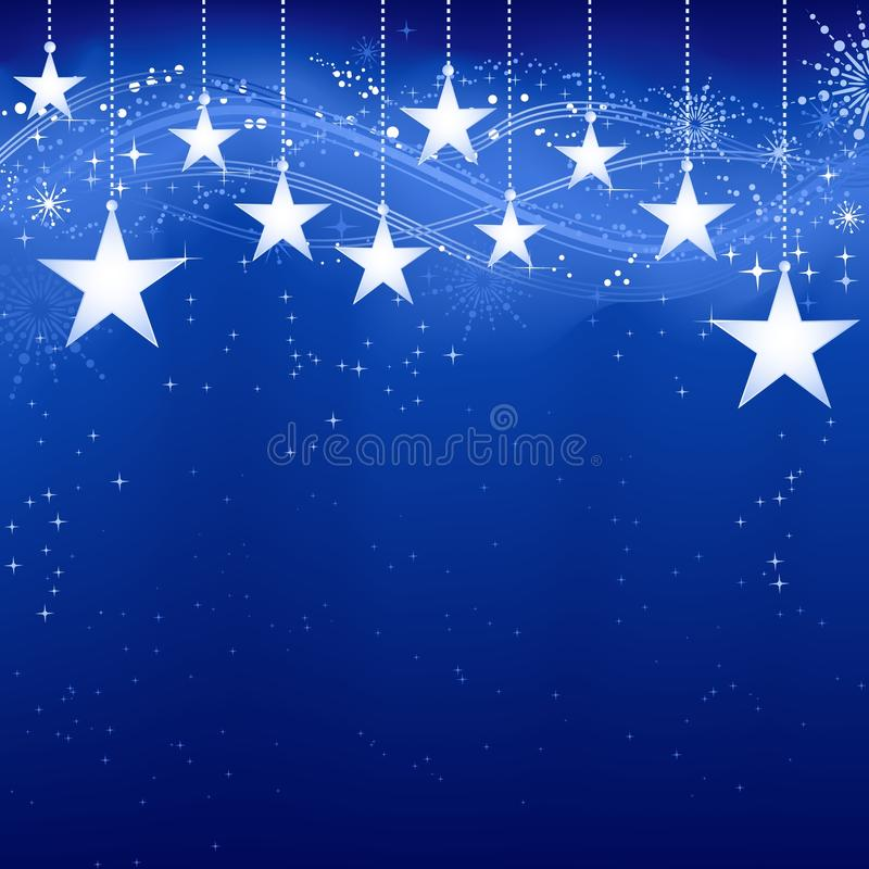Étoiles de Noël illustration stock