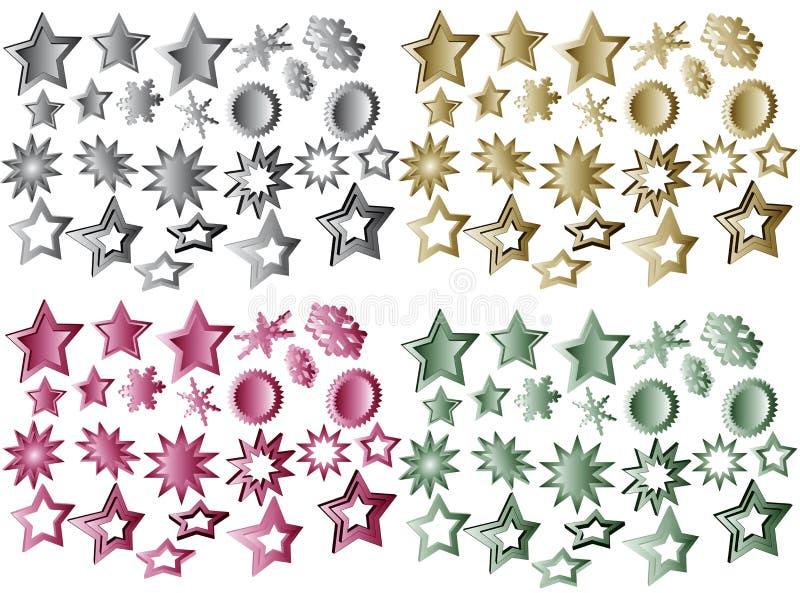 Étoiles de Noël illustration libre de droits