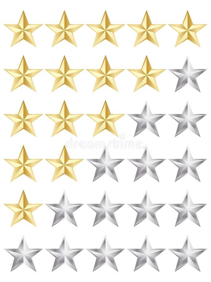 Étoiles de notation illustration de vecteur