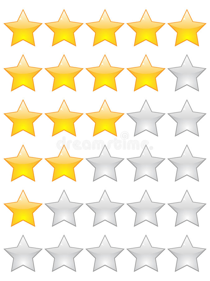 Étoiles de notation illustration stock