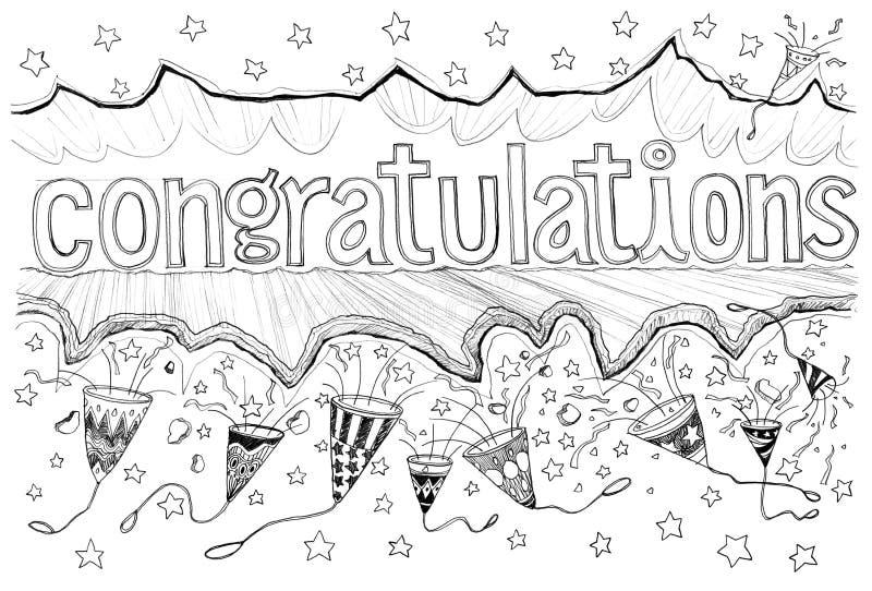 Étoiles de papier de production de traction de félicitation illustration de vecteur