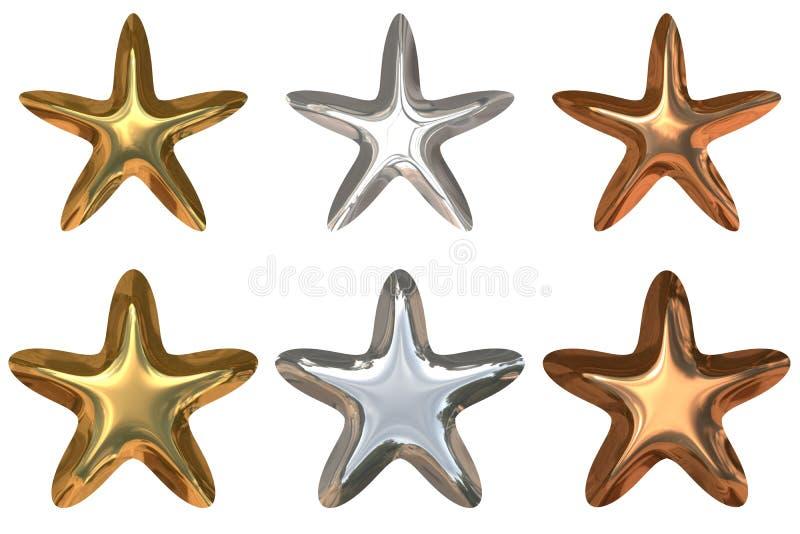 Étoiles de qualité illustration stock