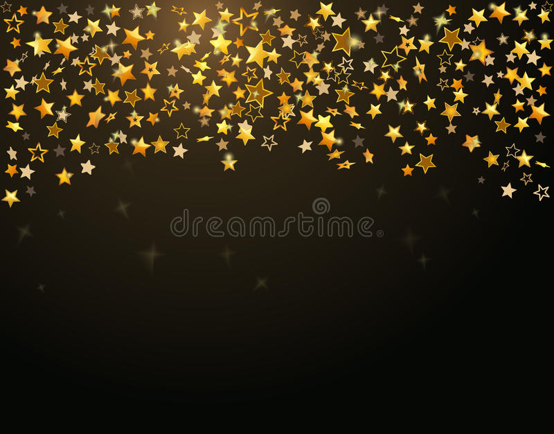 étoiles de vacances d'or de fond illustration libre de droits
