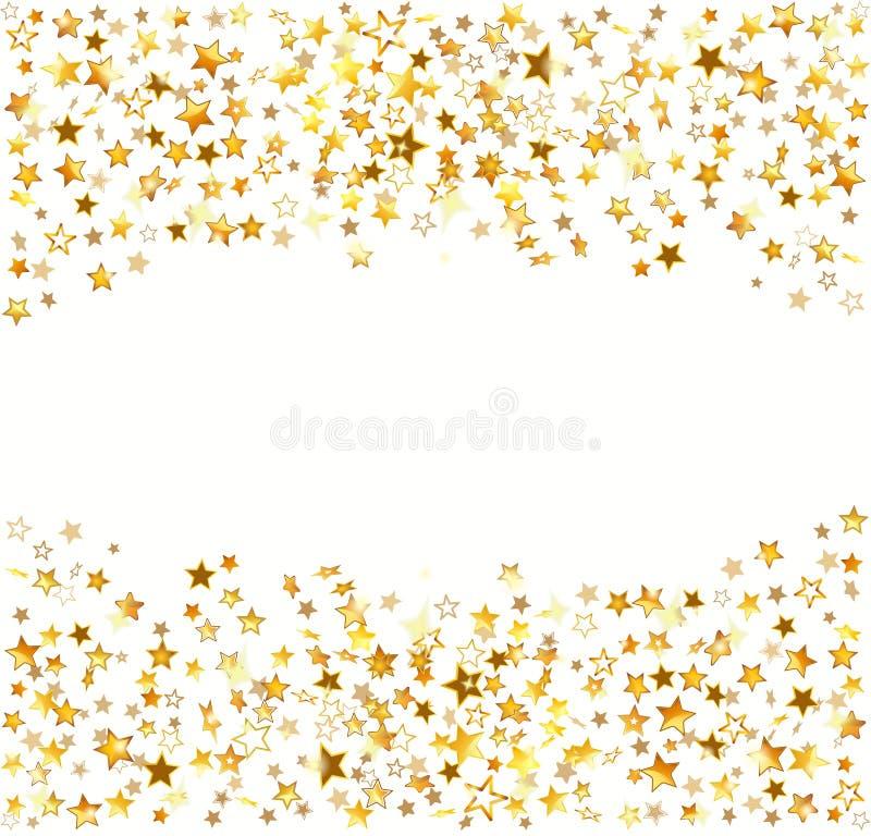 étoiles de vacances d'or de fond illustration de vecteur