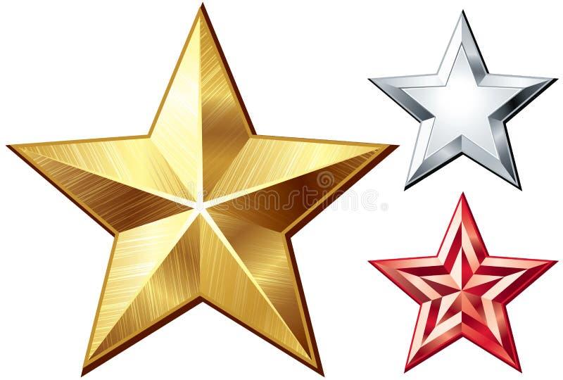 Étoiles de vecteur illustration stock