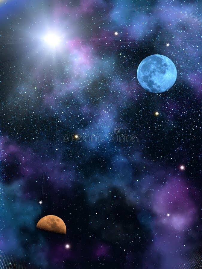 Étoiles du soleil de ciel illustration libre de droits