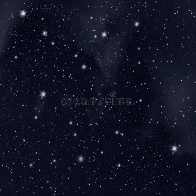Étoiles en ciel illustration de vecteur