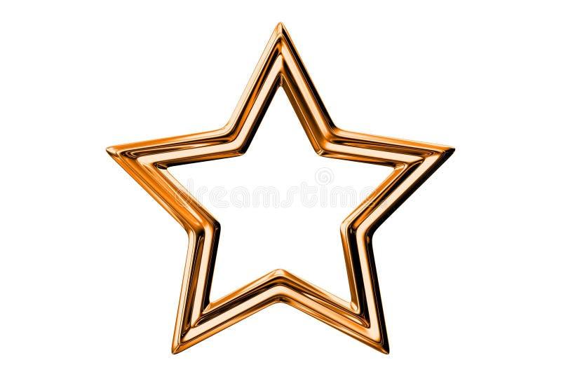 Étoiles en métal illustration de vecteur