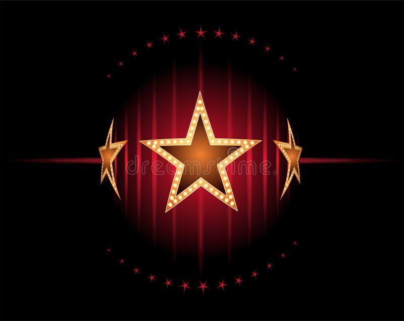 Étoiles en rouge illustration libre de droits