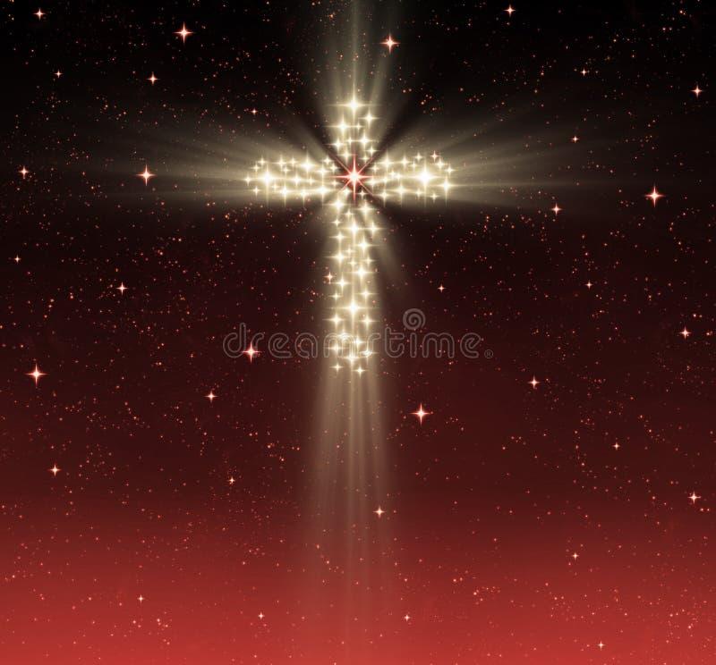 étoiles en travers chrétiennes illustration de vecteur