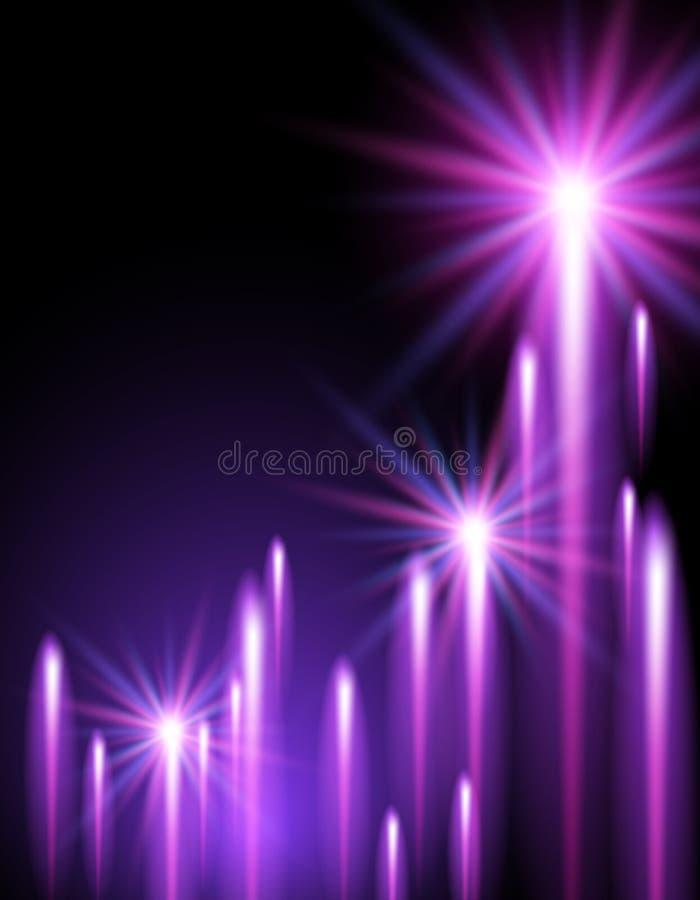 Étoiles et bandes brillantes de néon illustration libre de droits