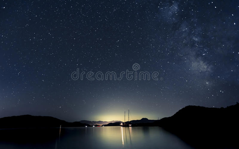 Étoiles et bateaux photos libres de droits