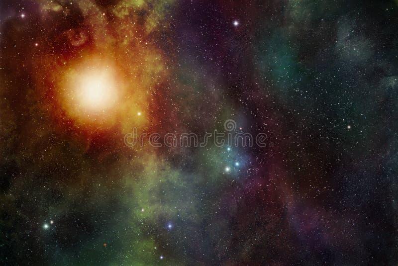 Étoiles et fond de chimères illustration libre de droits