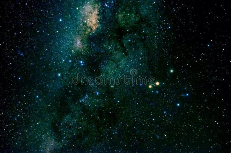 Étoiles et fond de nuit de ciel de l'espace de galaxie images libres de droits