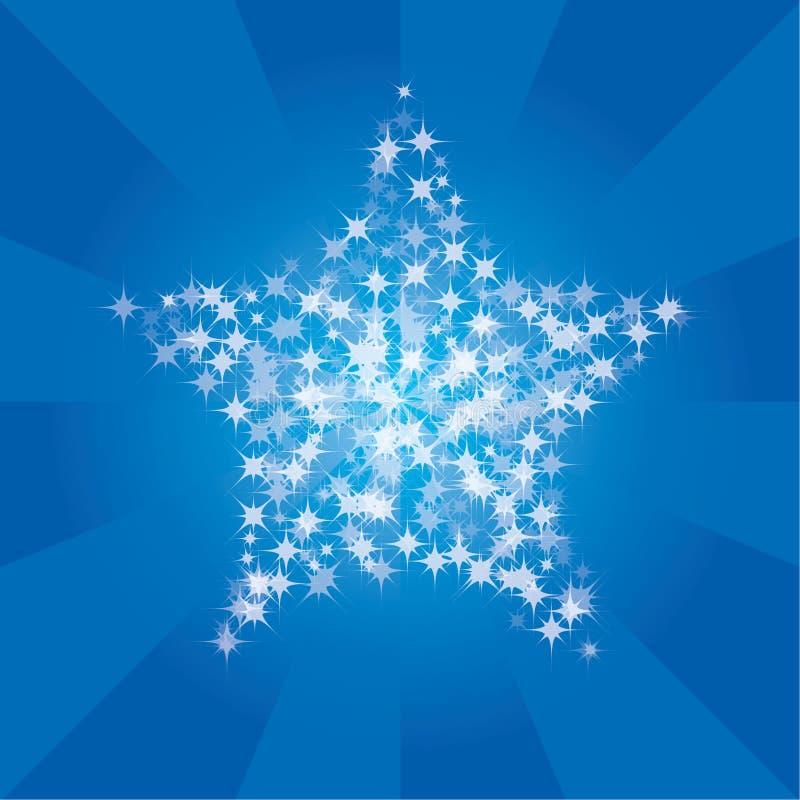 Étoiles et piste illustration de vecteur