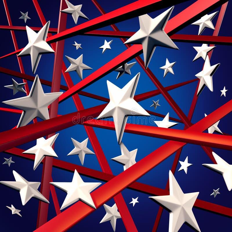 Étoiles et pistes américaines illustration libre de droits