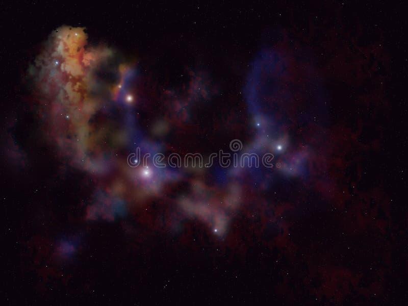 Étoiles et planète images stock