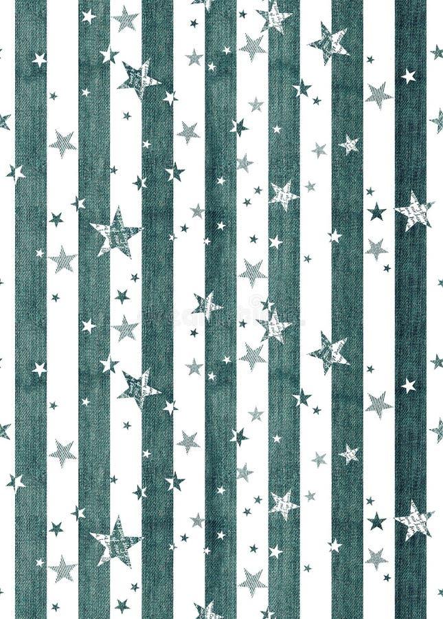 Étoiles et répétition sans couture de rayures illustration libre de droits