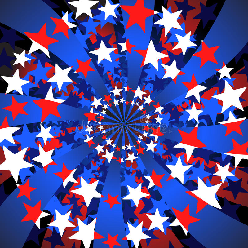 Étoiles et remous de pistes illustration libre de droits