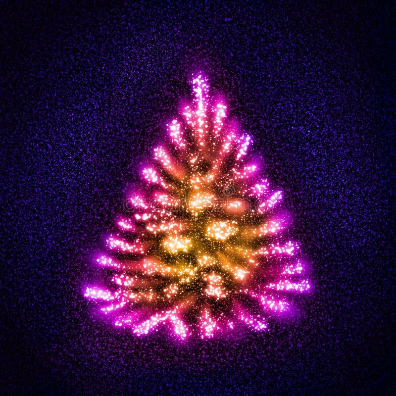 Étoiles formant un arbre de Noël abstrait images stock