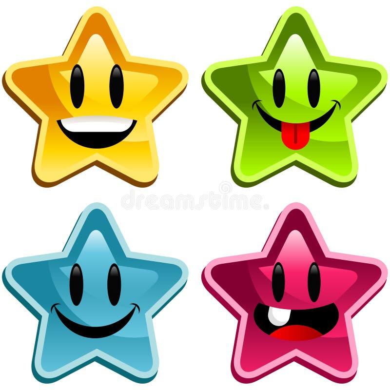 Étoiles heureuses illustration libre de droits