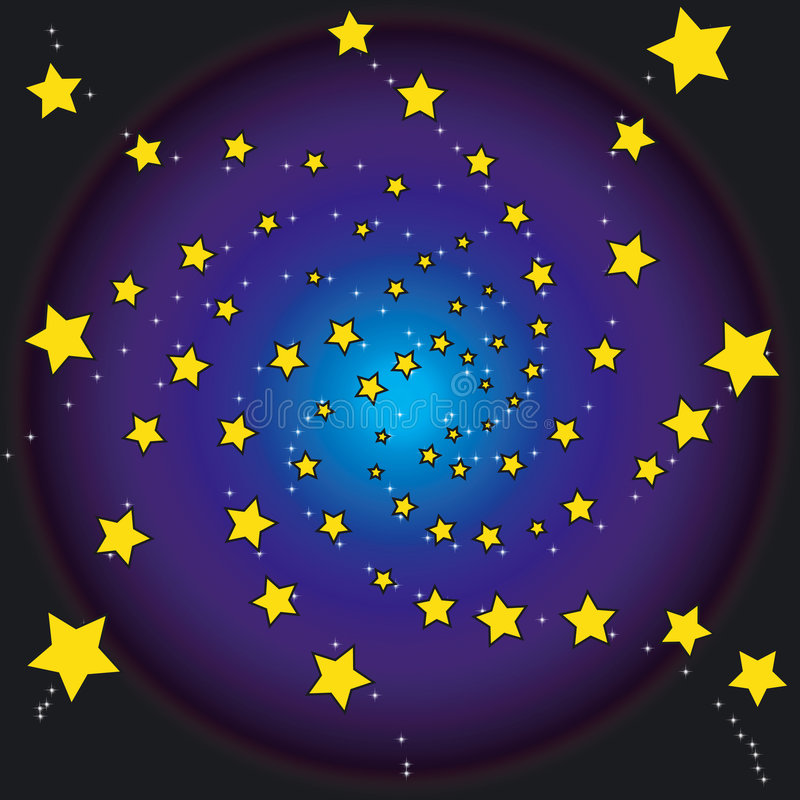 Étoiles la nuit illustration stock