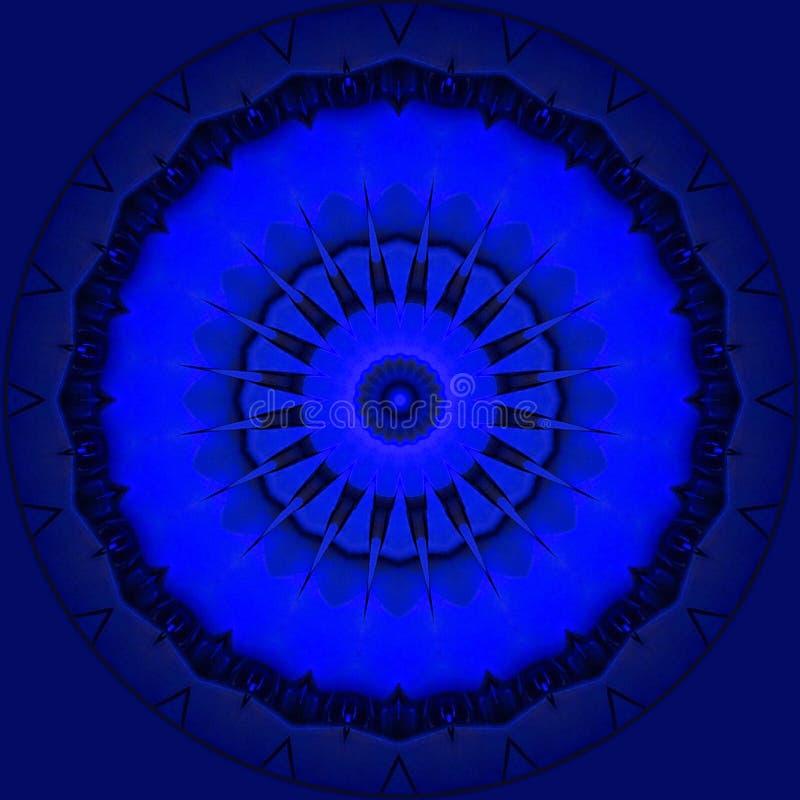 Étoiles métalliques bleues sur le bleu royal illustration de vecteur