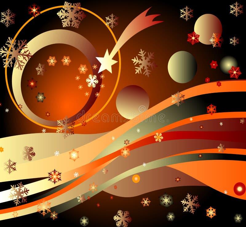 étoiles, planètes et arc-en-ciel illustration de vecteur