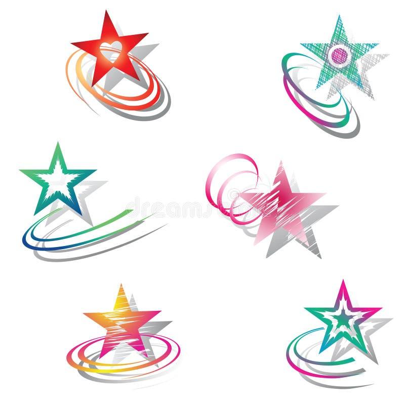 Étoiles. Positionnement d'éléments de conception. illustration stock