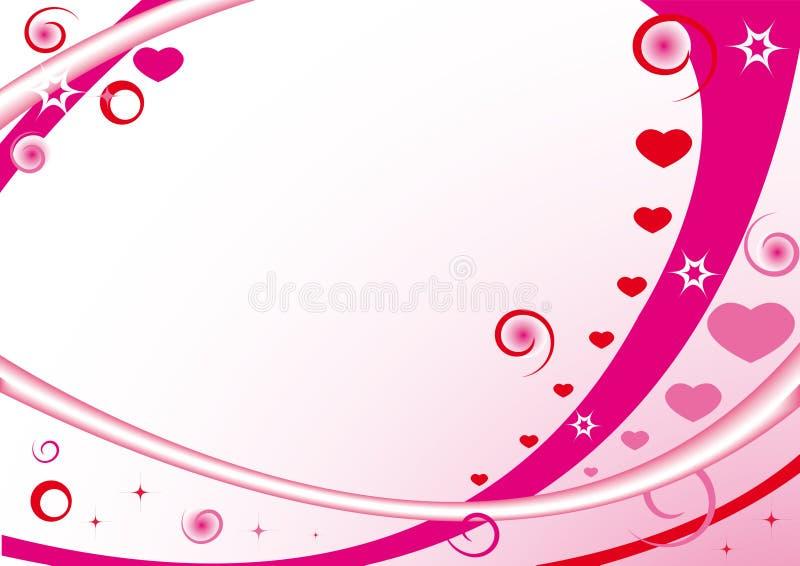 étoiles roses de coeurs de trame de cercles illustration stock