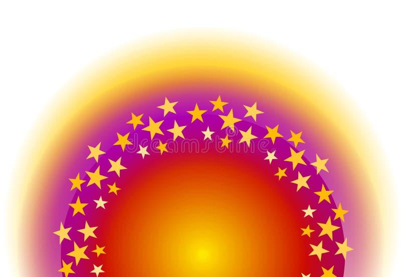 Étoiles rougeoyantes d'en demi-cercle illustration libre de droits