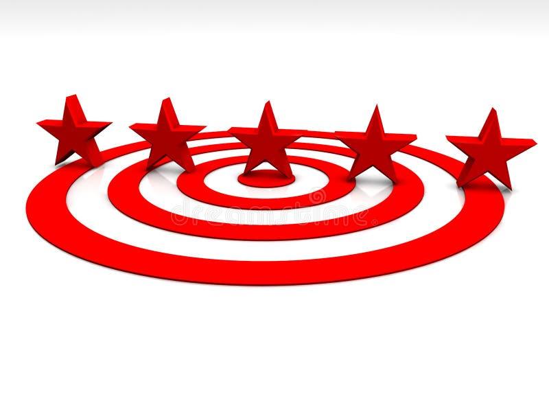 Étoiles rouges illustration libre de droits