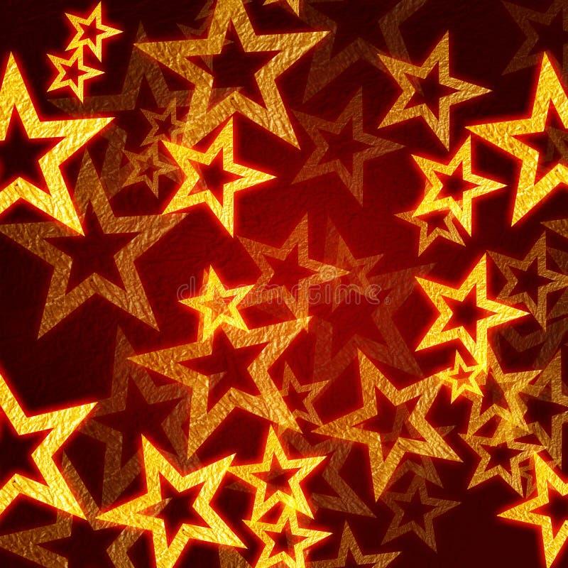 étoiles rouges d'or de fond illustration libre de droits