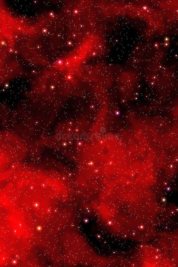 Étoiles rouges de nébuleuse illustration de vecteur