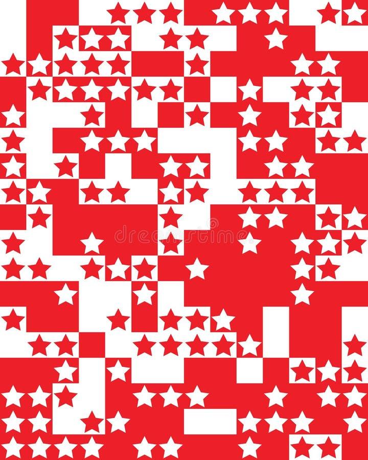 Étoiles rouges et blanches illustration stock
