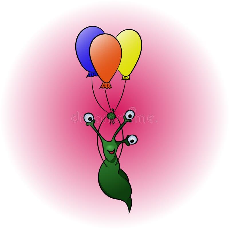 Étranger avec des baloons photographie stock libre de droits