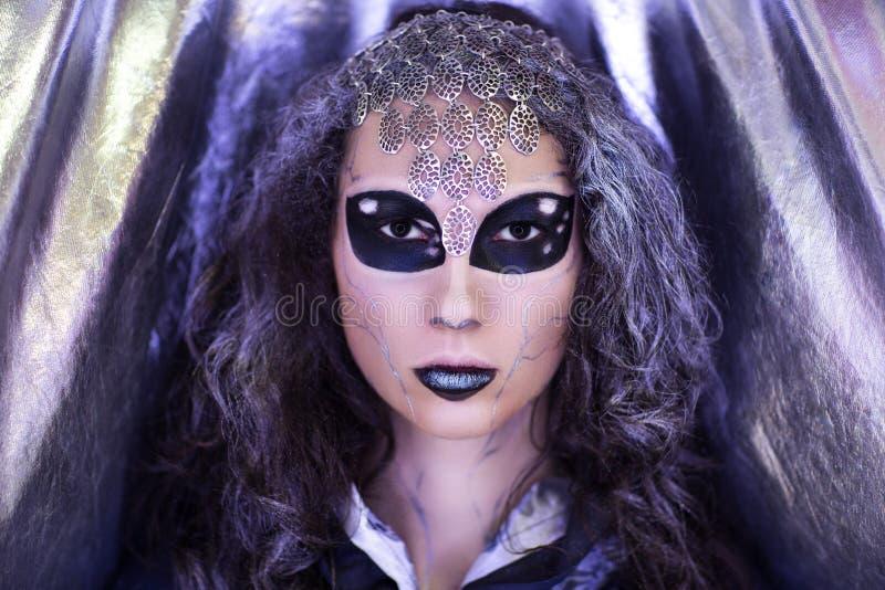 Étranger d'extraterrestrial de fille image libre de droits