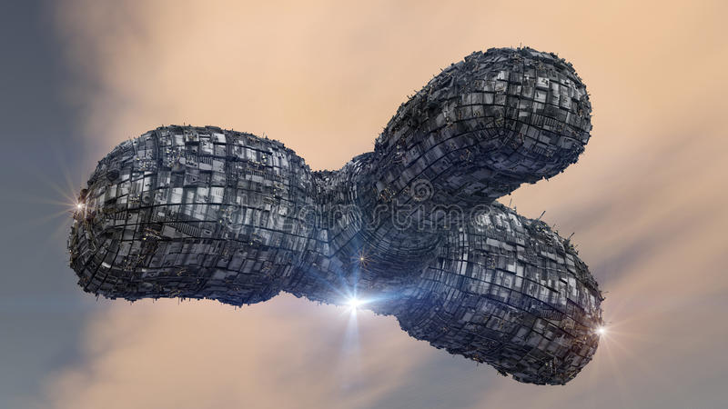 Étranger d'UFO de vaisseau spatial image libre de droits