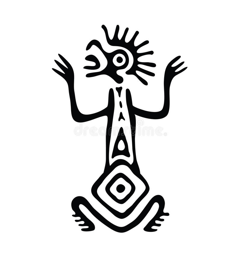 Étranger dans le style indigène, illustration de vecteur illustration de vecteur