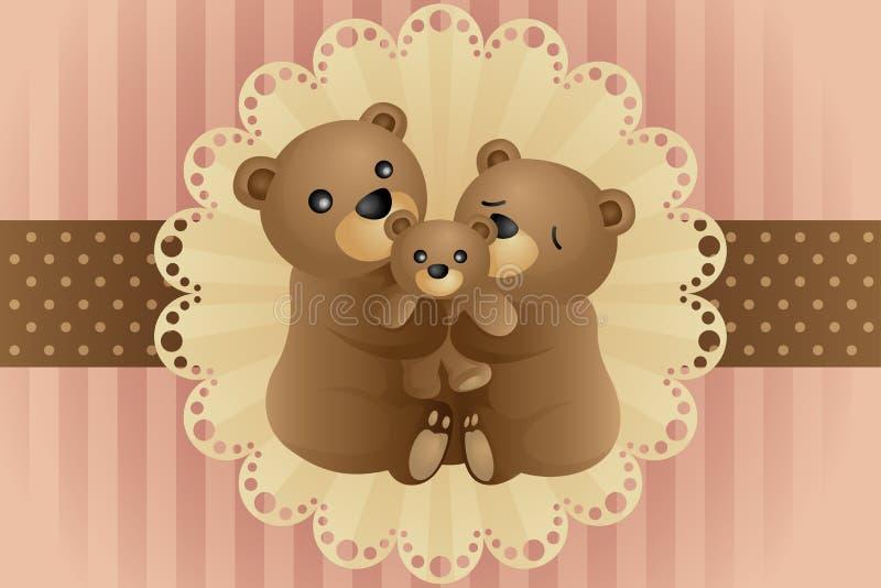 Étreindre de famille d'ours illustration stock