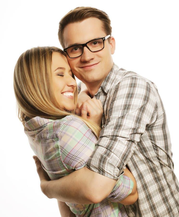 Étreindre réfléchi de couples images libres de droits
