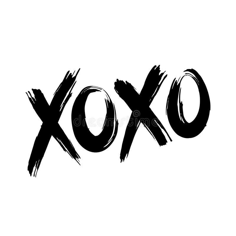Étreintes et baisers de XOXO illustration de vecteur