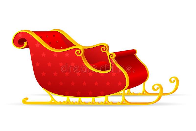 Étrier de Santa illustration de vecteur