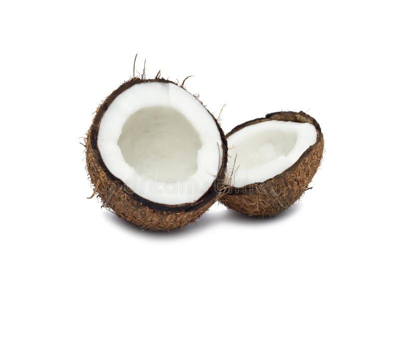 Étroit de noix de coco d'isolement sur le blanc photo stock