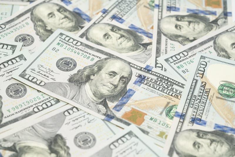 ?troitement vers le haut des USA cent argent de billets d'un dollar images libres de droits