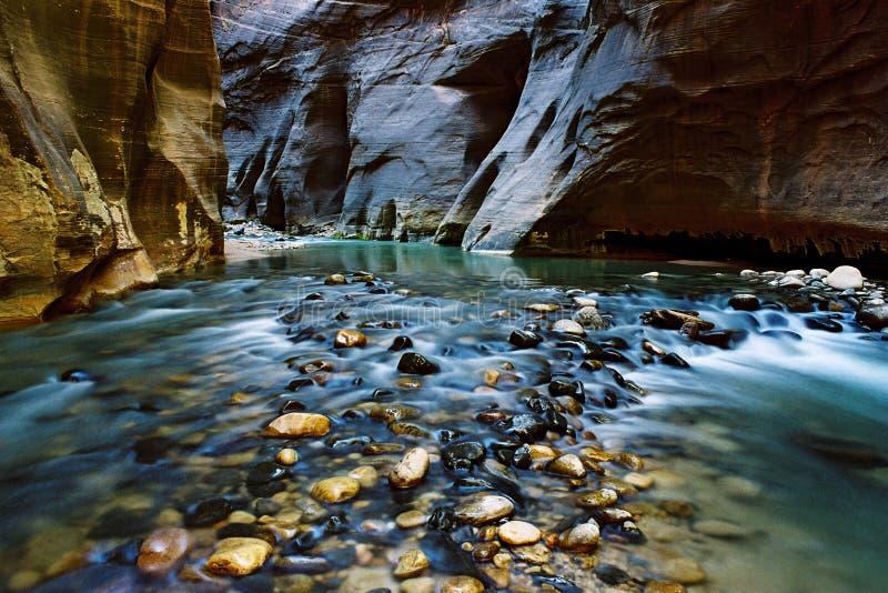 Étroits, rivière de Vierge, UT images libres de droits